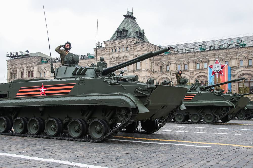 BMP-3 amphibious infantry fighting vehicles