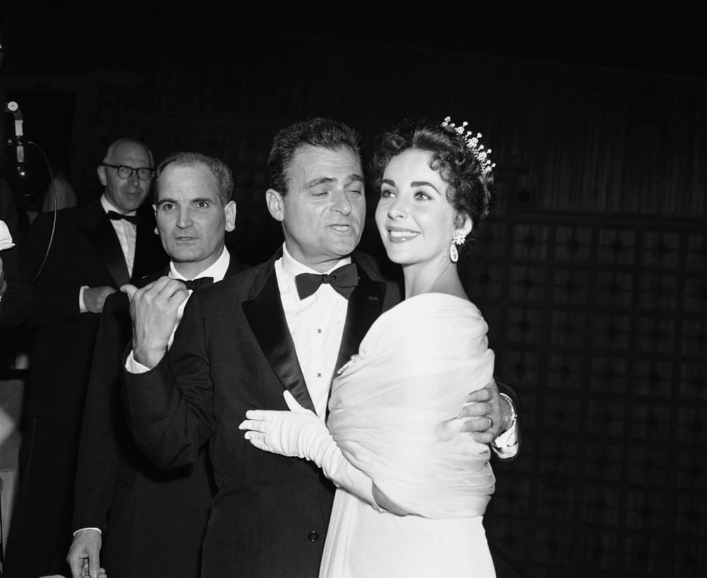 American producer Mike Todd and actress Elizabeth Taylor at the Festival Palace in Cannes, 1957
