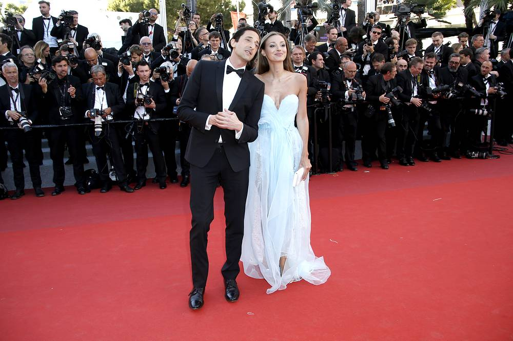 US actor Adrien Brody and Lara Lieto