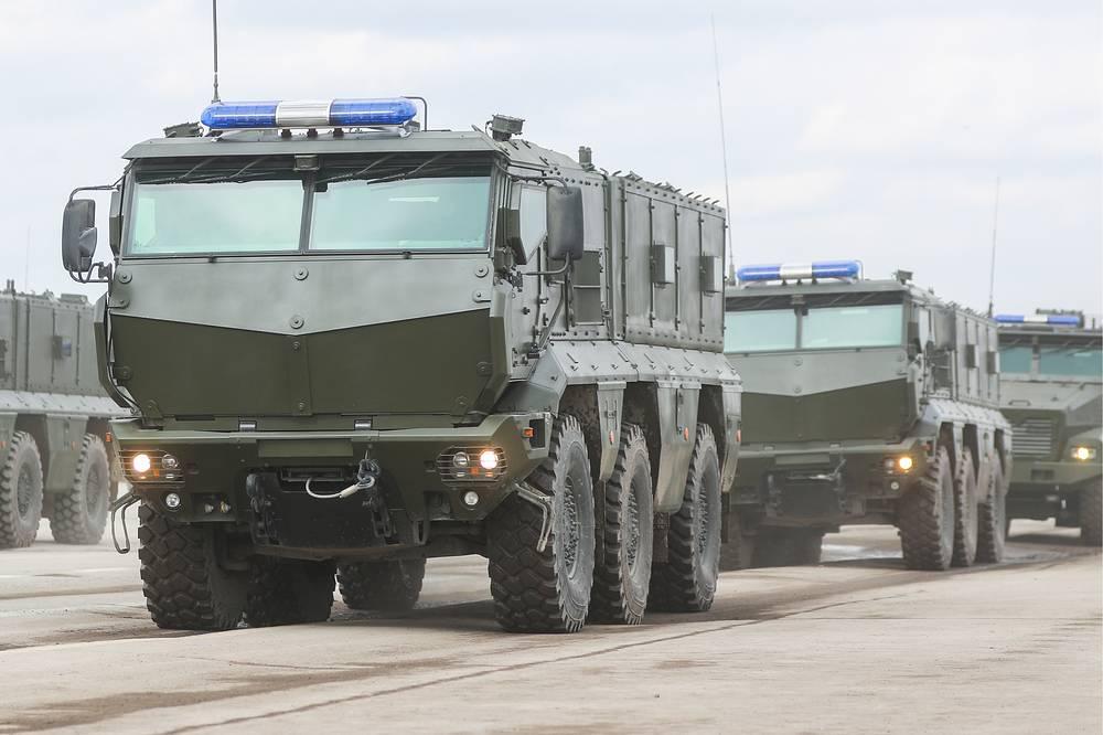 KamAZ Typhoon multi-functional, armoured, mine resistant MRAP vehicles