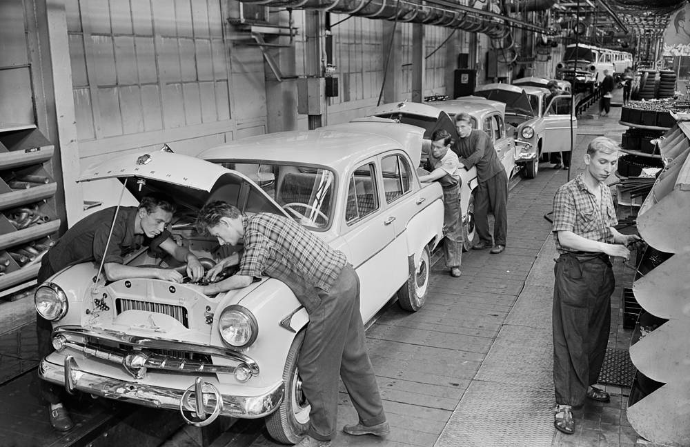 Moscow Small Car Factory (MZMA plant), a Soviet and Russian automobile manufacturer later named AZLK, maker of the Moskvitch brand, 1959