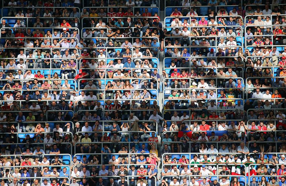 Fans at 2017 FIFA Confederations Cup Group A match between Russia and New Zealand at Saint Petersburg Arena Stadium