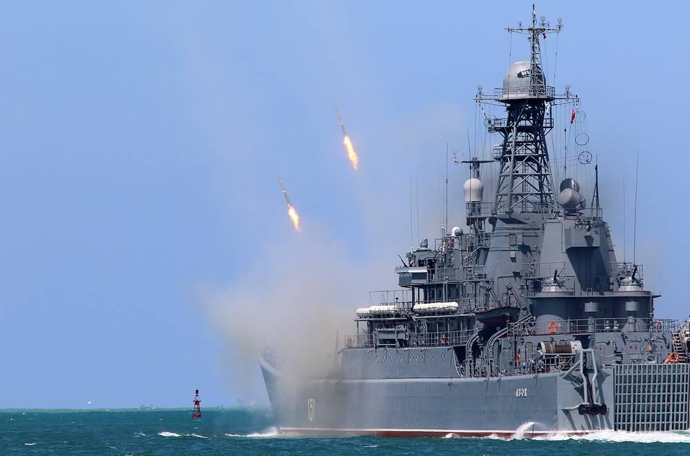 Azov large landing ship in Sevastopol
