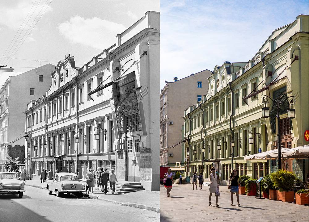 Left: A view of the Gorky Moscow Art Theatre in 1967