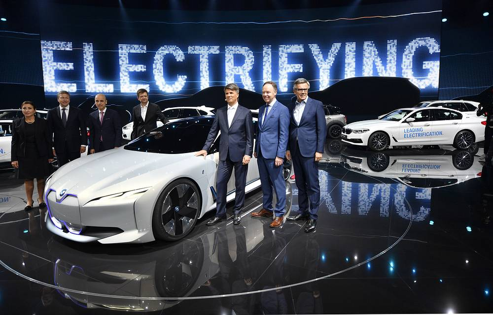 The BMW board of directors at the International Frankfurt Motor Show IAA in Germany