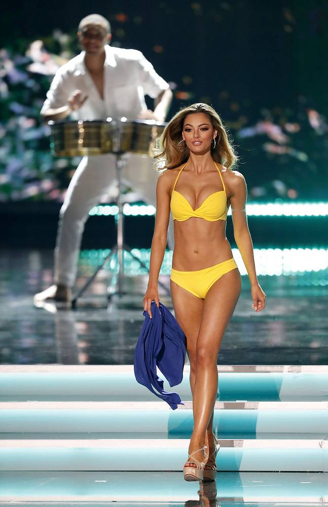 Miss South Africa Demi-Leigh Nel-Peters competes during the 2017 Miss Universe pageant at The Axis at the Planet Hollywood Hotel and Casino in Las Vegas, Nevada, USA 26 November 2017.