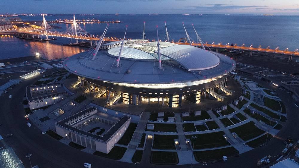 A view of Saint Petersburg Stadium on Krestovsky Island