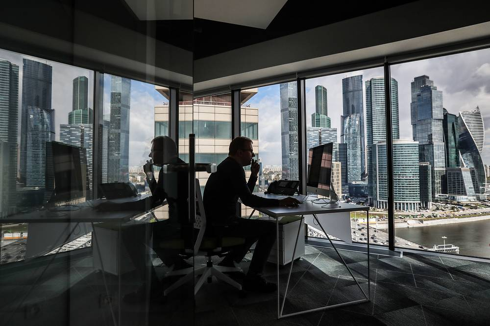 Inside a new Agile home office of Sberbank on Kutuzovsky Avenue, Moscow, May 12