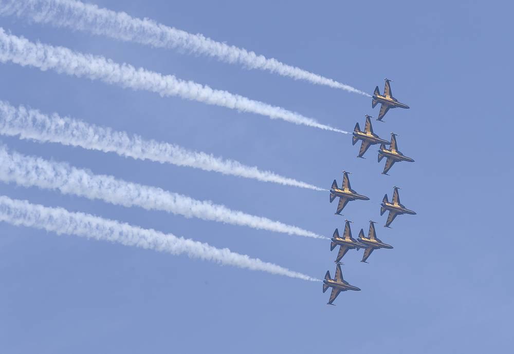 South Korea's Black Eagles aerobatic team