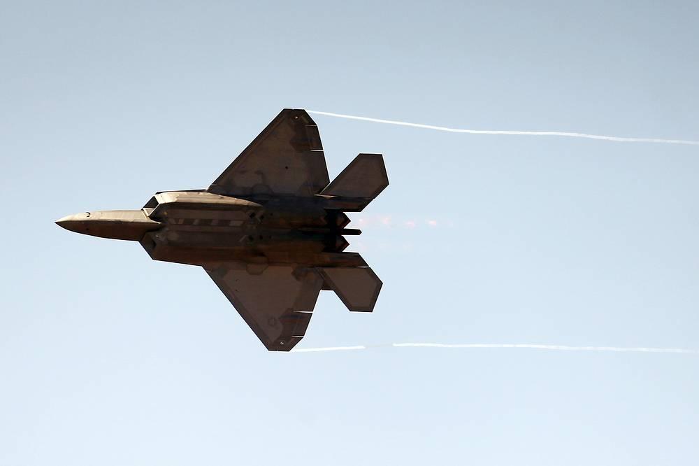A Lockheed Martin F-22 Raptor