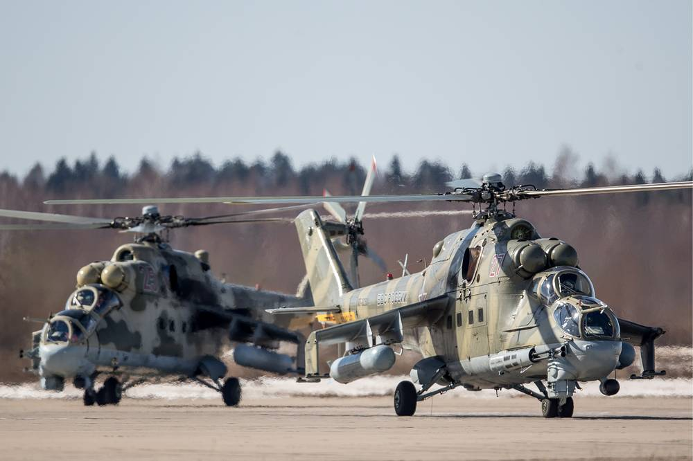 Mil Mi-24 combat helicopters
