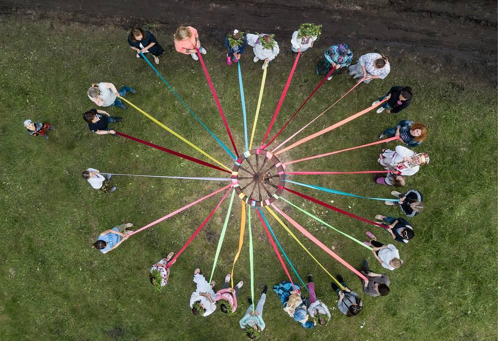 A summer solstice celebration in the village of Okunevo, Omsk region