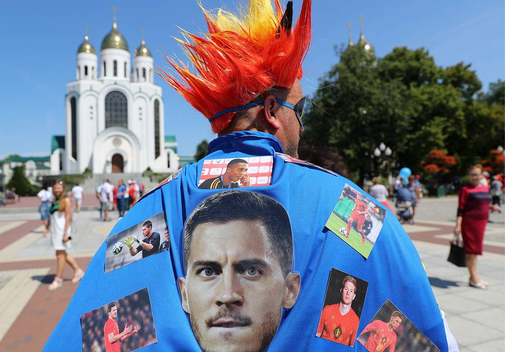 Team Belgium's fan in Kaliningrad