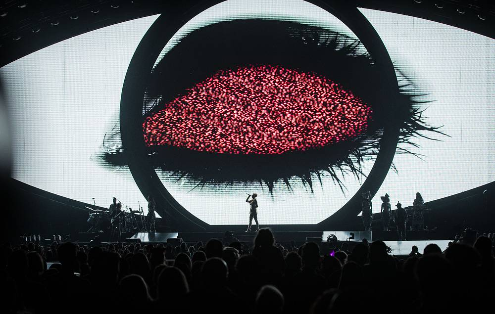 US singer Katy Perry performs during her opening show at Perth Arena in Perth, Australia, July 24