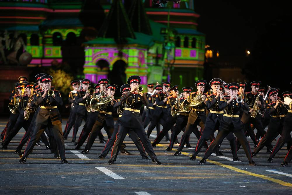 Members of the Moscow Military Music College Band