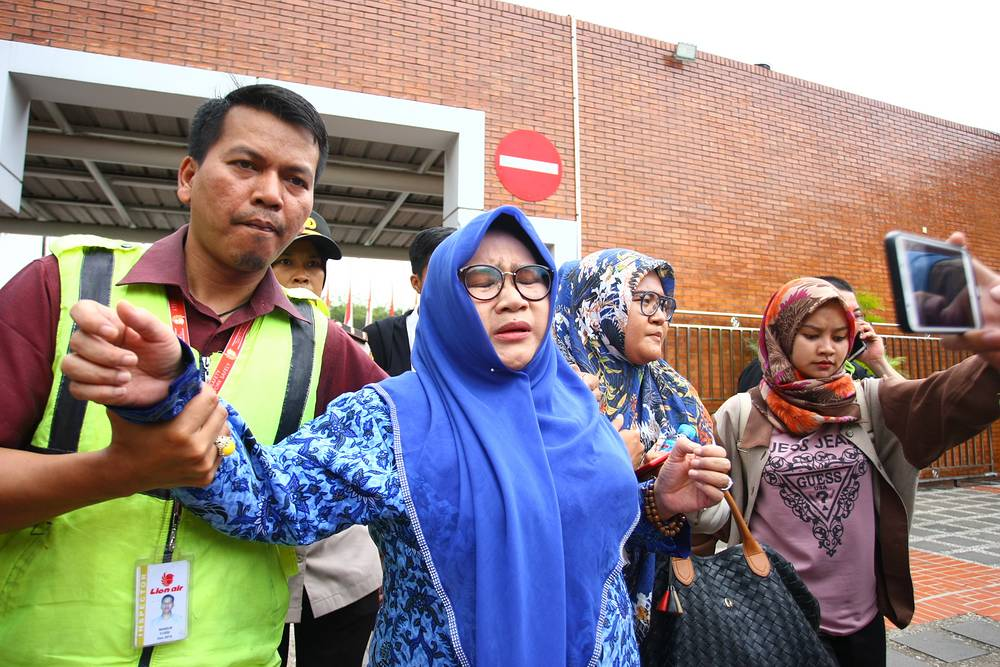 Relatives of the plane crash victims