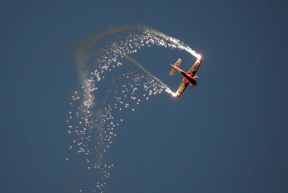 British Global Stars aerobatic team performs at the Sakhir air base
