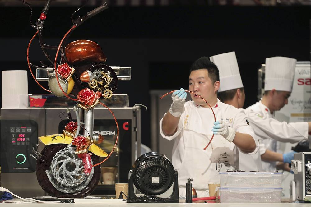 Twenty one countries took part in the contest this year. Photo: Yuan Zhu, member of the China team.