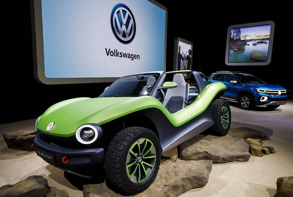 'ID.Buggy' concept car at the Volkswagen display