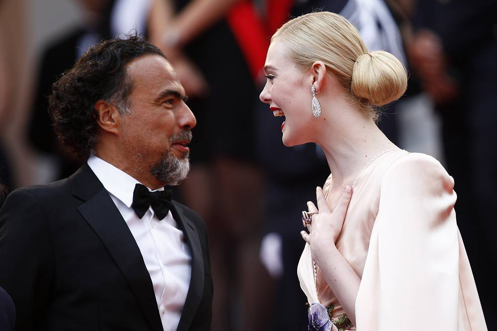 President of the Jury, Mexican director Alejandro Gonzalez Inarritu and actress Elle Fanning