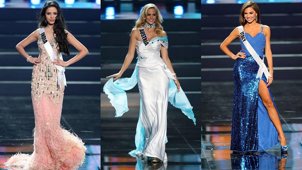 Мисс Индия, мисс Австрия, Мисс Италия. Фото EPA/SERGEI ILNITSKY