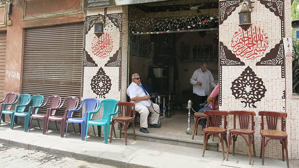 Торговцы на базаре Хан-эль-Халили в Каире. Фото Дмитрий Добродеев