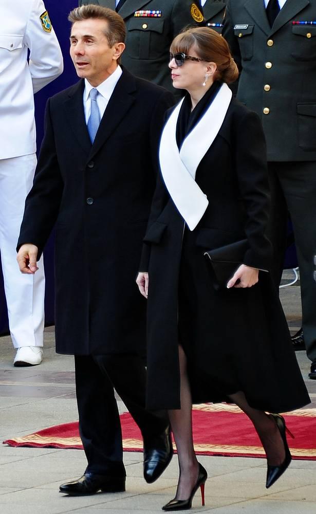 Премьер-министр Грузии Бидзина Иванишвили с супругой Екатериной Хведелидзе
