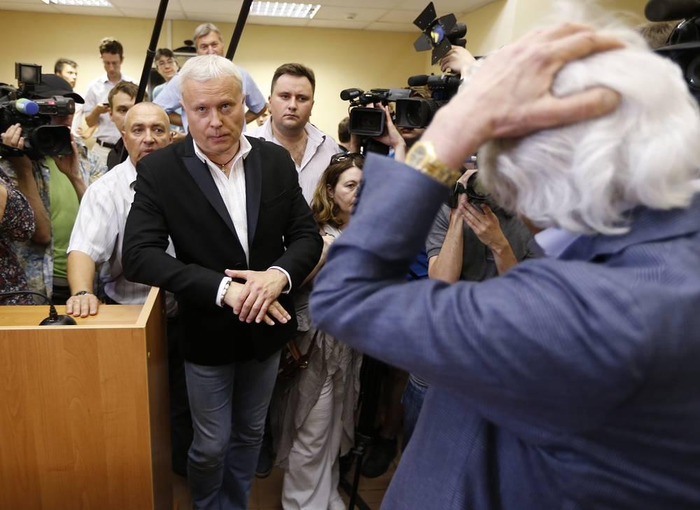 Александр Лебедев после оглашения приговора в Останкинском суде Москвы