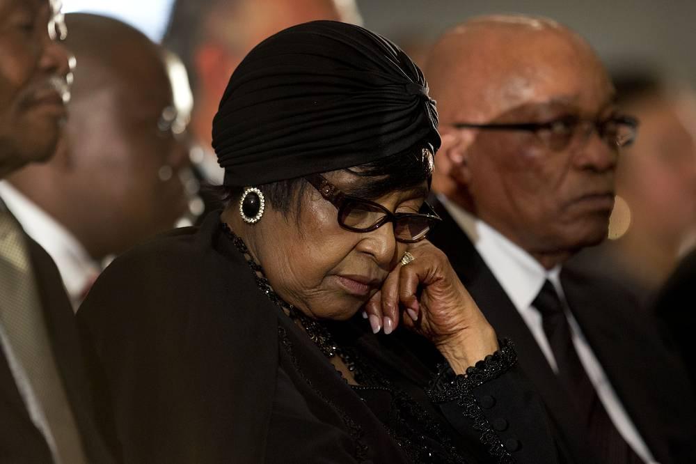 Винни Мандела и президент ЮАР Джейкоб Зума