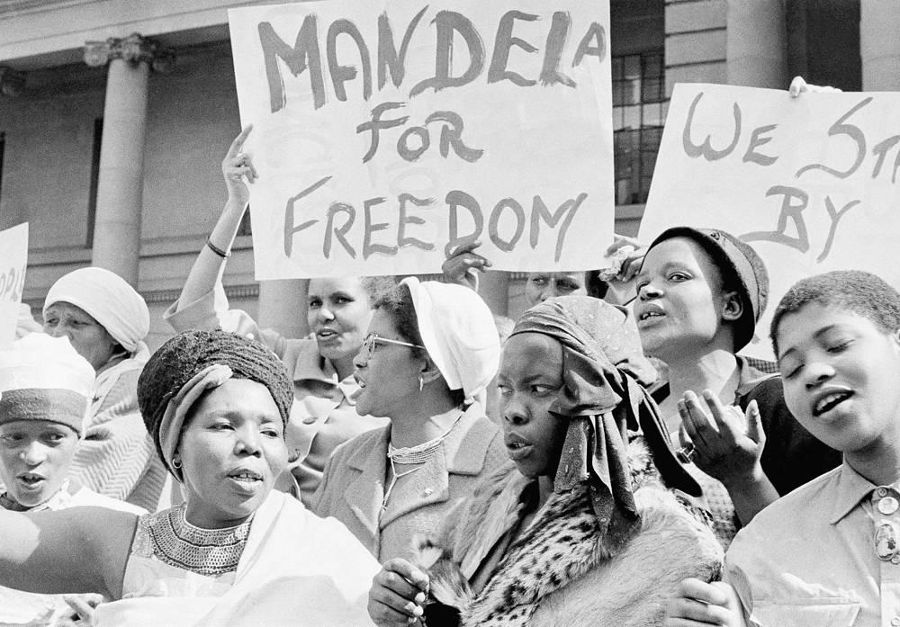 Акции в поддержу Нельсона Манделы в тюрьме, 1962 г.