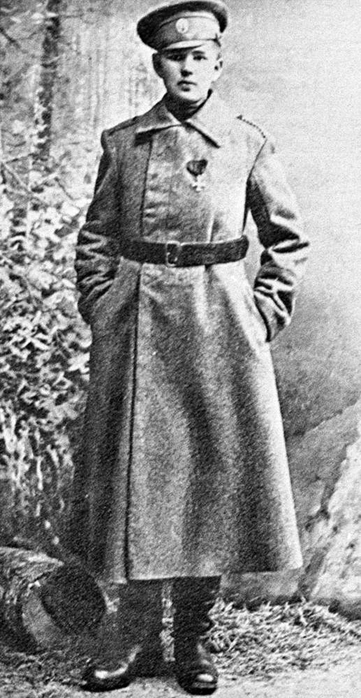 Девушка-доброволец Кира Башкирова под именем Николая Попова. 1915 год