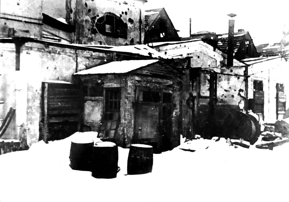 """Цех № 2 завода «Севкабель», в котором изготавливался """"кабель жизни""""."""