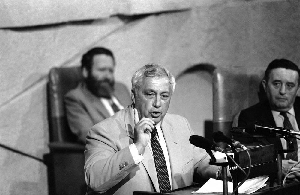 Обращение Ариэля Шарона к Кнессету во время войны в Ливане, 29 июня 1982 г.