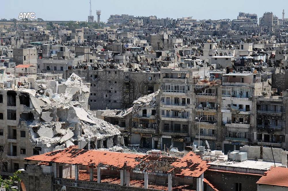 15 января 2013 г. в результате ракетного обстрела университета в Алеппо погибли 87 человек