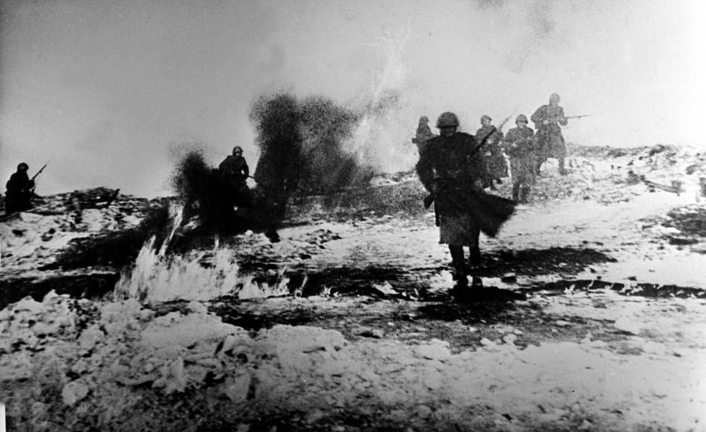 Бой в районе прорыва блокады Ленинграда. 1943 г.