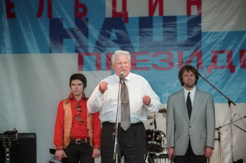 Леонид Ярмольник с Борисом Ельциным, Ростовская область, 1996