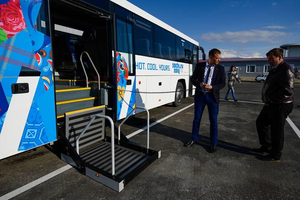 Автобусы для обслуживания Олимпийских и Паралимпийских игр