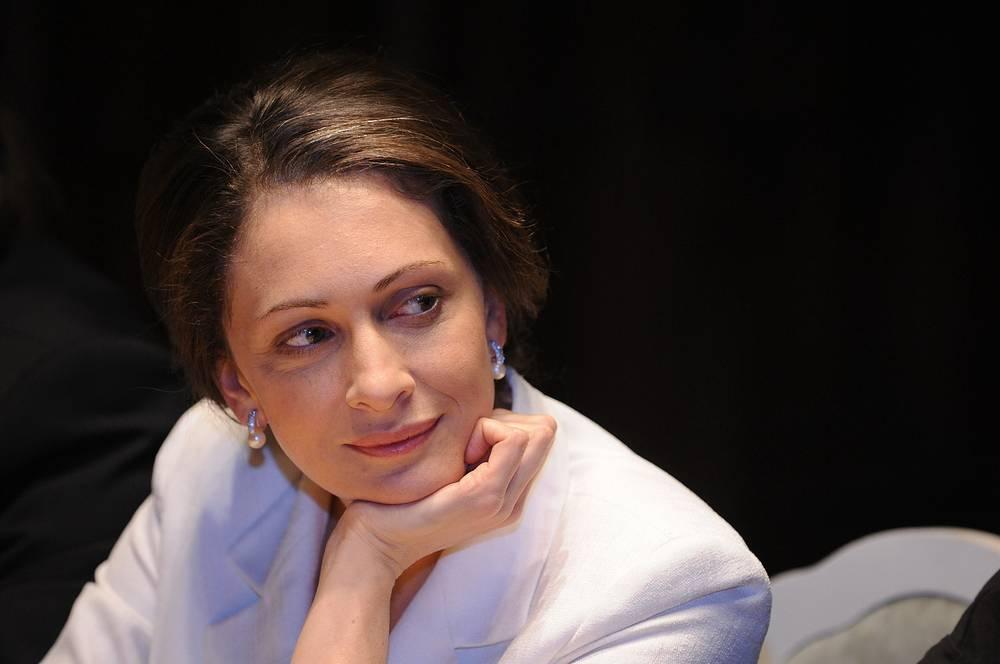 Актриса Ксения Раппопорт на пресс-конференции, посвященной фильму режиссера Ярослава Чеважевского «36,6».