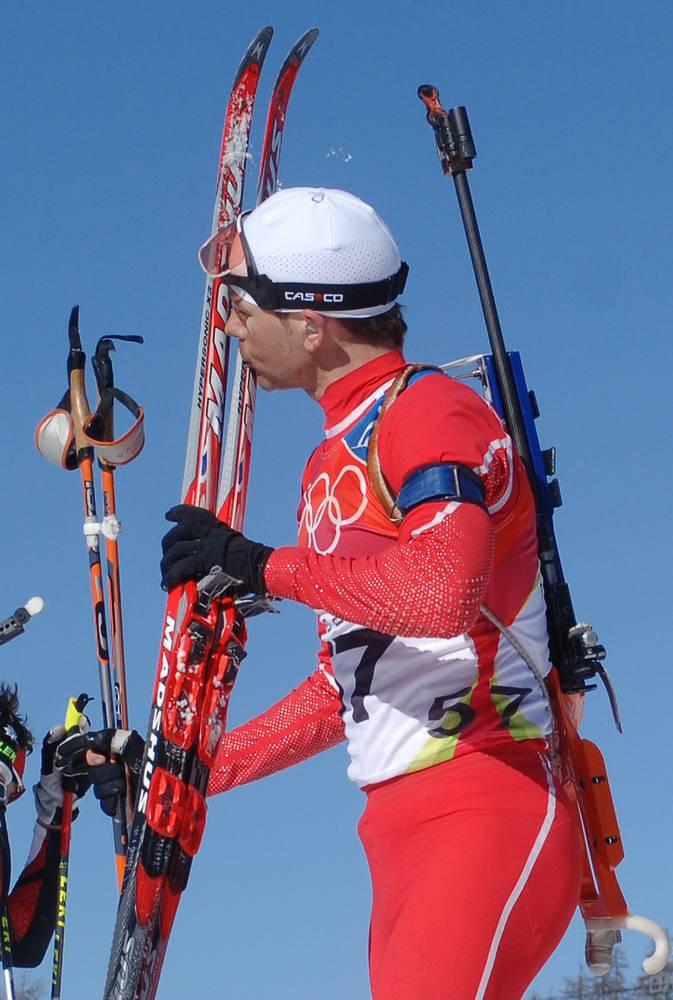 Уле-Эйнар Бьорндален во время олимпийских игр в Турине, 2006 г.