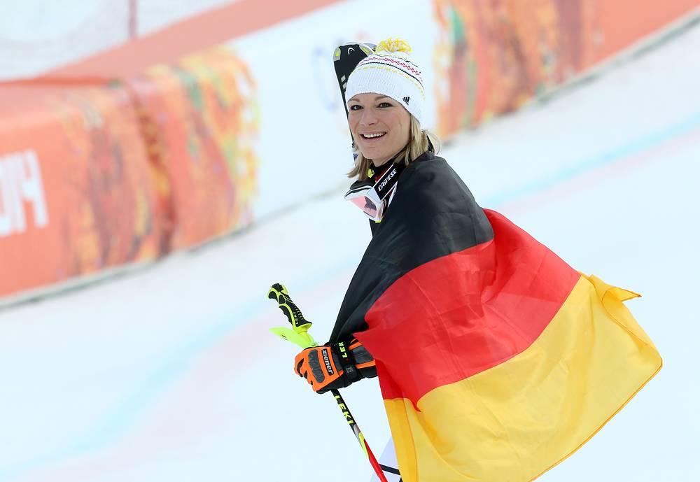 Вознаграждения у атлетов сборной Германии: $20,3 тыс., $13,5 тыс. и $10,15 тыс. На фото: немецкая горнолыжница Мария Хефль-Риш