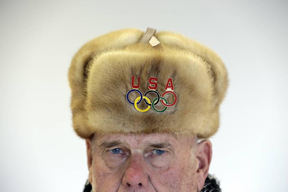 Американский болельщик на зимних олимпийских играх в Сочи, 2014 г.