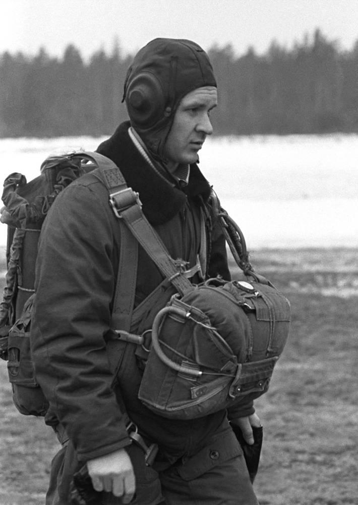 Во время парашютной подготовки