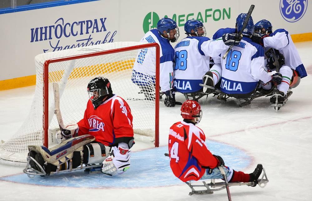 Сборная Италии по следж-хоккею обыграла команду Южной Кореи в матче группы B