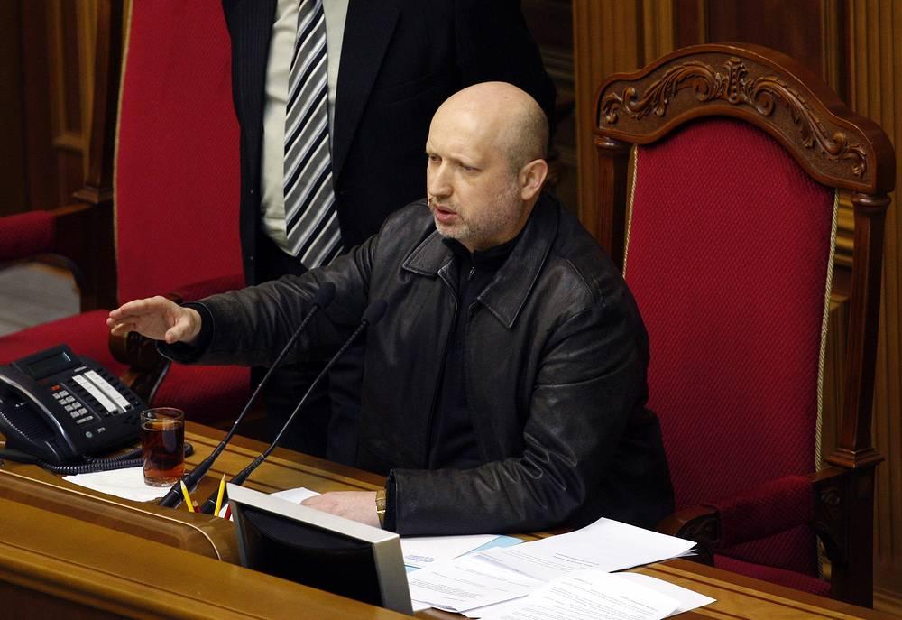 Назначенный Верховной радой и. о. президента Александр Турчинов