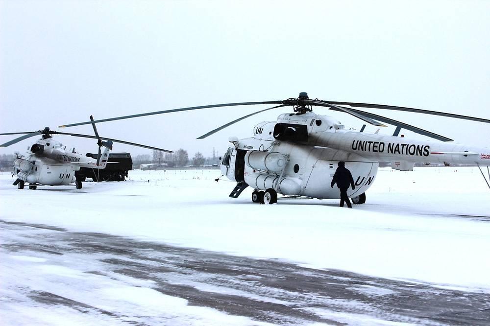 Миротворческие вертолеты Центрального военного округа