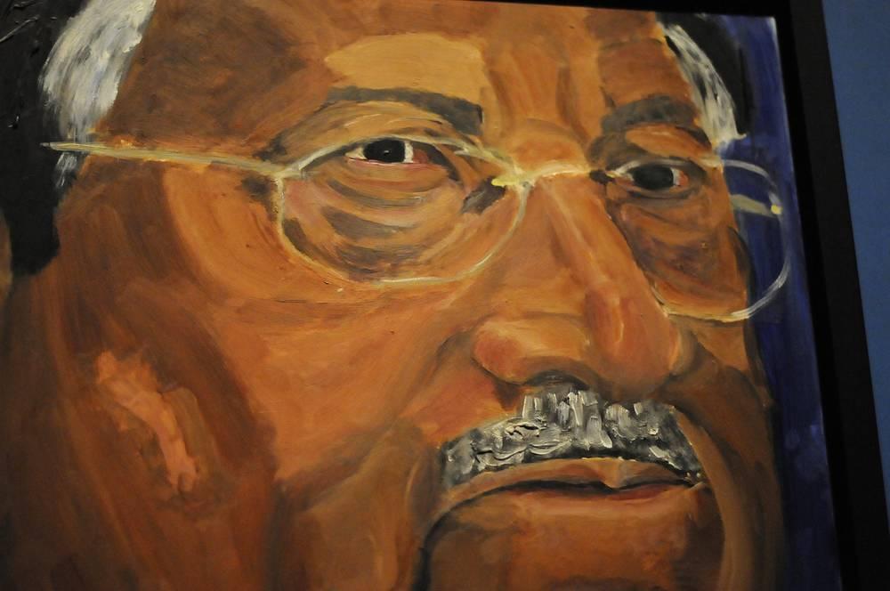 Портрет  бывшего президента Пакистана Первеза Мушаррафа