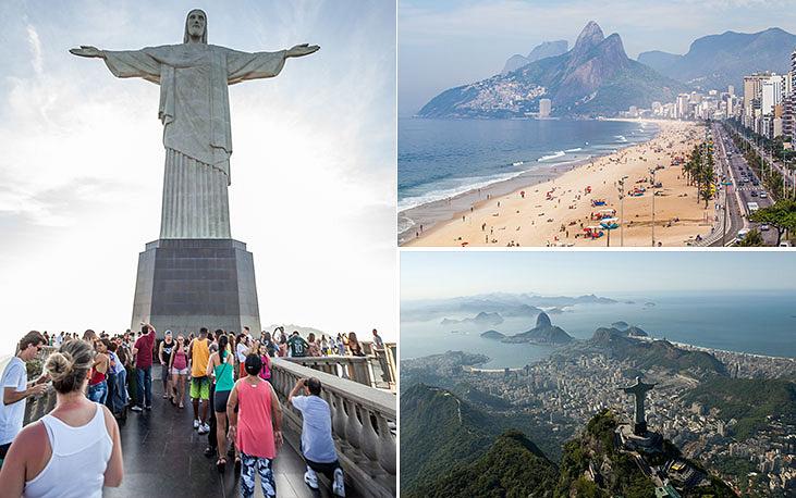Один из крупнейших городов Бразилии Рио-де-Жанейро является одним из самых посещаемых в мире. Основан в 1565 году, население с агломерацией - 12 млн человек. Достопримечательности статуя Христа, пляж Копакабана и гора Сахарная Голова внесены в список всемирного наследия ЮНЕСКО