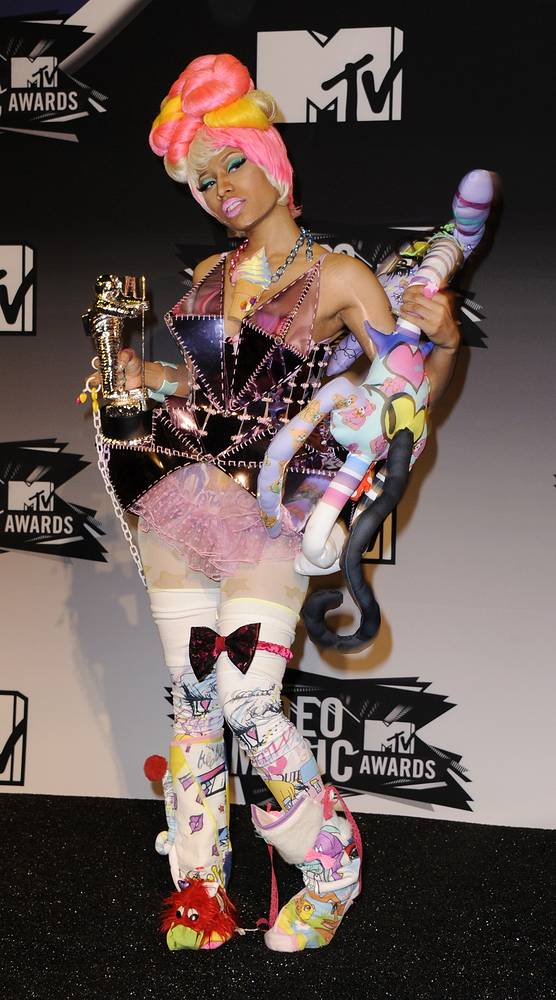 Певица Ники Минаж на церемонии MTV Video Music Awards в Лос-Анджелесе, 2011 год
