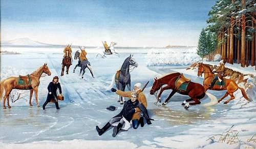 Гибель Н. П. Резанова - картина красноярского художника В. П. Белова