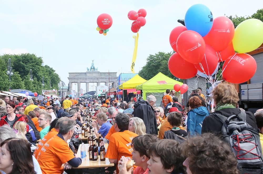 В Берлине состоялись многочисленные демонстрации немецких профсоюзов